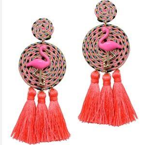 Flamingo Tassel Drop Earrings